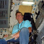 Tim Taylor inside a shuttle